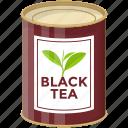 black tea tin, breakfast tea, canned food, flavoured tea, hot beverage