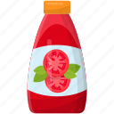 condensed food, preserved food, tomato ketchup, tomato sauce icon