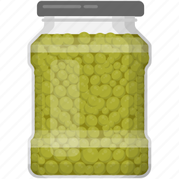 green peas, pea pods, pickled peas, preserved food, vegetable icon