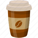 cocoa drink, coffee, disposable pack, hot beverage, takeaway food icon