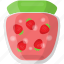 preserved food, strawberry confiture, strawberry jar icon