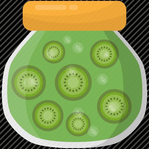 kiwi fruit, kiwi jam, kiwi jar, preserved food, preserved fruit icon
