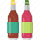 chilli sauce, hot sauce, pizza ingredients, sauces bottles, soya sauce icon