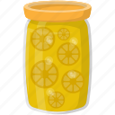 canned food, grocery storage, lemon container, lemon pickles, preserved food