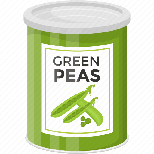 green peas, pea pods, preserved food, preserved peas, vegetable icon