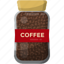 caffeine jar, coffee beans, coffee seeds, jar food, roasted coffee icon