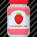 condensed food, fruit marmalade, jam jar, organic food, raspberry jam, strawberry jam
