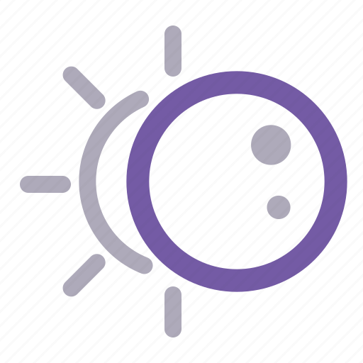 cosmic, eclipce, moon, space, sun, weather icon