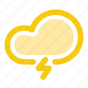 cloud, forecast, lightning, rain, rainy, storm, weather icon