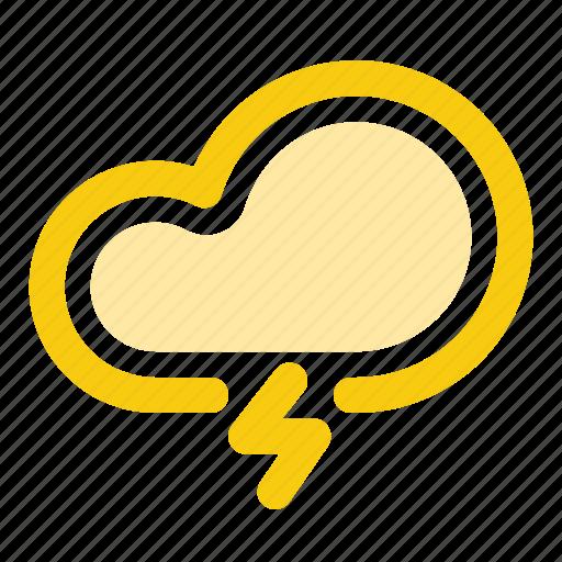 cloud, forecast, lightning, rain, rainy, storm, weather icon