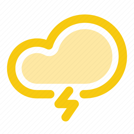 cloud, forecast, lightning, rain, storm icon