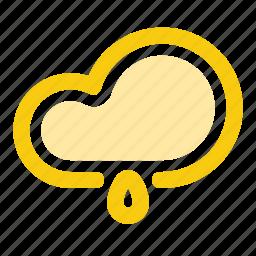 cloud, drop, forecast, precipitation, rain, rainy, weather icon