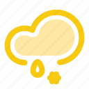cloud, drop, forecast, precipitation, rain, snow, weather icon