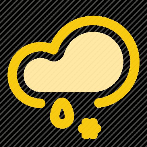 cloud, drop, forecast, precipitation, rain, snow, weather icon