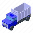 business, car, cartoon, construction, isometric, silhouette, tipper