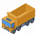 business, car, cartoon, commercial, isometric, silhouette, tipper