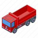 business, car, cartoon, construction, isometric, red, tipper