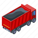business, car, cartoon, isometric, load, silhouette, tipper