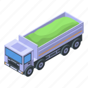 business, car, cartoon, construction, isometric, lorry, tipper