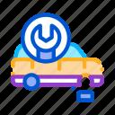 car, equipment, fitting, repair, service, station, wheel icon
