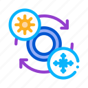 fitting, replacing, service, station, summer, tires, winter icon