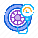 equipment, fitting, inflation, pump, service, station, tire icon