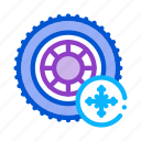 equipment, fitting, pump, service, station, tires, winter icon