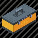 box, business, cartoon, fitting, isometric, tire, tool