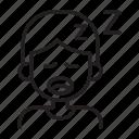 snoring, tired, exhaust, man, yawn icon