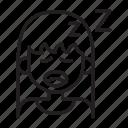 tired, woman, exhaust, sleepy, yawn icon