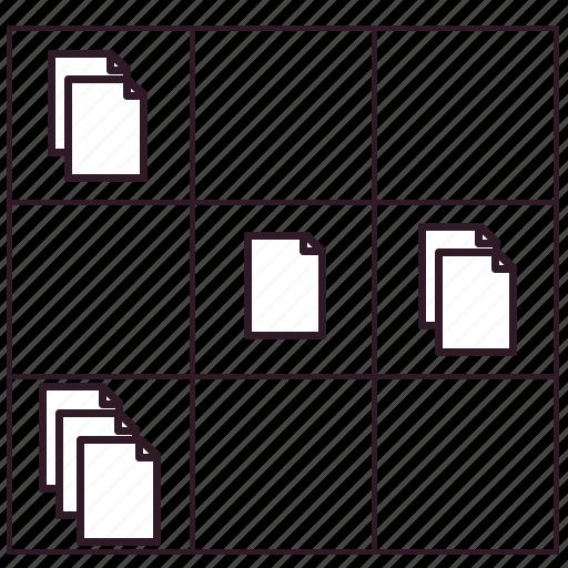 data, document, file, information, information exchange, matrix, sheet icon