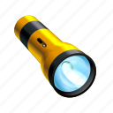 flashlight, light, off, search, toggle, unlit icon