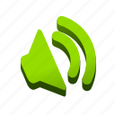music, on, sfx, sound, speaker, toggle, waves icon