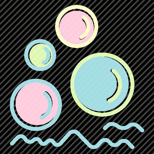 balloon, bathroom, foam, home, house, toilet icon