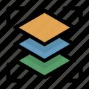 tool, creative, layer icon