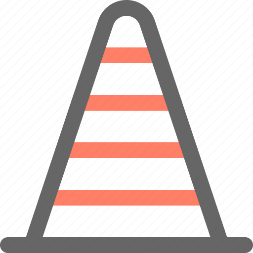 cone, construction, tool, tools, work icon