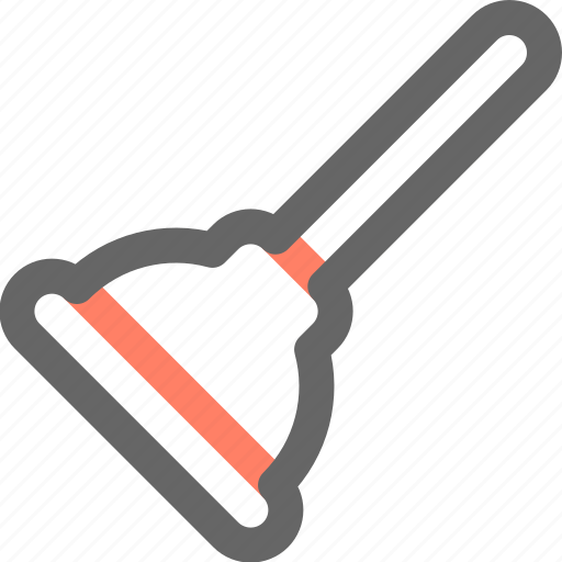 plunger, tool, tools, work icon
