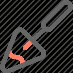 construction, equipment, tool, tools, trowel, work icon