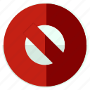 block, cancel, forbid, forbidden, toolbar icon