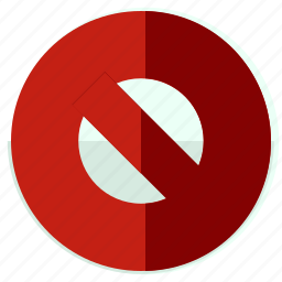 block, cancel, forbid, forbidden, toolbar icon