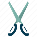 cut, design, graphic, scissor, toolbar icon