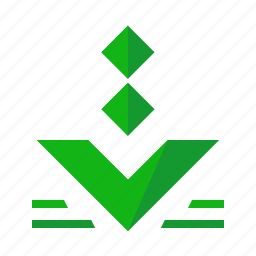 arrow, down, download, pointer, toolbar icon