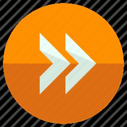 arrows, fast, forward, pointers, toolbar icon