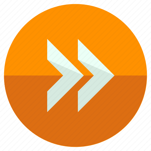 arrows, fast, forward, pointers, toolbar icon
