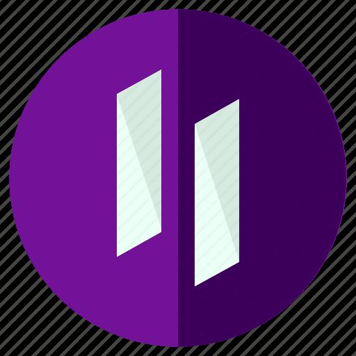 audio, media, multimedia, music, pause, toolbar, video icon
