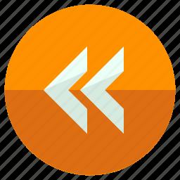 arrow, br, left, pointer, rewind, tool, toolbar icon