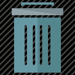 bar, bin, rubbish, tool, toolbar, trash icon
