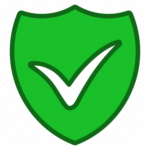 check, ok, private, protection, secure, security, shield icon