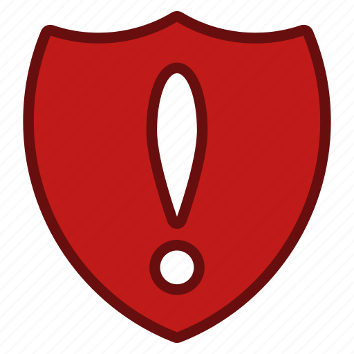 danger, problem, protect, protection, security, shield, warning icon