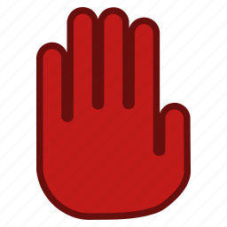 cancel, danger, error, forbidden, signal, stop hand, terminate icon